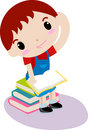 Cute boy reading book Royalty Free Stock Photo