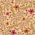 Cute bright floral seamless pattern Royalty Free Stock Photos