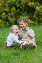 Cute brother and sister playing Royalty Free Stock Image