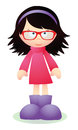 Cute brunette girl with glasses Royalty Free Stock Photo