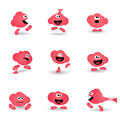 Cute bubble gum cartoon character icon Royalty Free Stock Photography