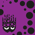 Cute bubbly monster vector illustration Royalty Free Stock Image