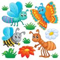 Cute bugs collection 2 Royalty Free Stock Photo