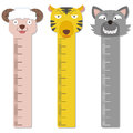 Cute bumper children meter wall vector Stock Images