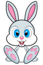 Cute bunny illustration on white background. PNG available
