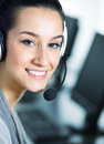 Cute business customer service Royalty Free Stock Photography