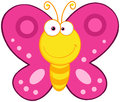 Cute butterfly cartoon character mascot Stock Images