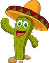 Cute cactus cartoon character illustration of Royalty Free Stock Photos