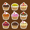 Cute cakes Stock Images