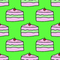 Cute cakes sweety cherry seamles repeat pattern