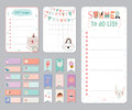 Cute Calendar Daily and Weekly Planner Royalty Free Stock Photo