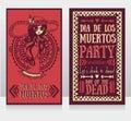 Cute card for dia de los muertos