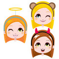 Cute Carnival Headbands Royalty Free Stock Photography