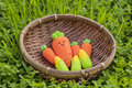Cute carrots, corn erasers Royalty Free Stock Photo