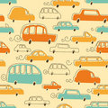 Cute Cars Pattern Stock Images
