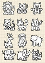 Cute cartoon animal icon Royalty Free Stock Image