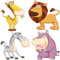 Cute cartoon animal set Royalty Free Stock Image