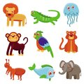 Cute cartoon animals Royalty Free Stock Photos