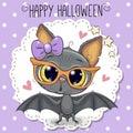 Cute Cartoon Bat with glasses