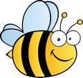 Roztomilý návrh malby včela