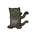 Cute cartoon black cat Royalty Free Stock Photos