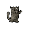 Cute cartoon black cat Stock Photography