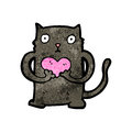 Cute cartoon black cat Royalty Free Stock Photography