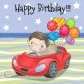 Cute Cartoon Boy with balloon