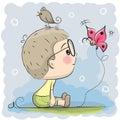 Cute Cartoon Boy Royalty Free Stock Photo