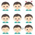 Cute cartoon boys