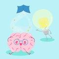 Cute cartoon brain