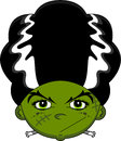 Cute Cartoon Bride of Frankenstein Royalty Free Stock Photo