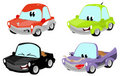 Cute cartoon car characters Royalty Free Stock Photos