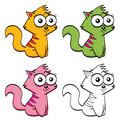 Cute cartoon cats Royalty Free Stock Photos