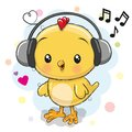 Cute cartoon Chicken with headphones