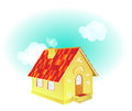 A cute cartoon country house vector illustration of Royalty Free Stock Image