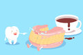 Cute cartoon denture