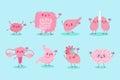 Cute cartoon different organ