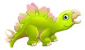Cute Cartoon Dinosaur Stegosaurus Royalty Free Stock Photo