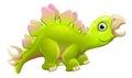 Cute Cartoon Dinosaur Stegosaurus Royalty Free Stock Photo