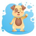 Cute cartoon dog toy card Royalty Free Stock Photography