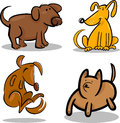 Cute cartoon dogs or puppies set Stock Photos