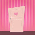 Cute cartoon door illustration of a Royalty Free Stock Image