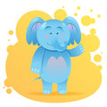 Cute cartoon elephant toy card Royalty Free Stock Photo