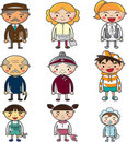 Cute cartoon family element Stock Image