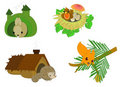 Cute cartoon forest animals Stock Images