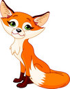 Cute cartoon fox Stock Image