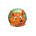 Cute cartoon fox vector illustration Royalty Free Stock Photo