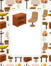 Cute cartoon furniture card Royalty Free Stock Photos