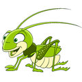 Cute cartoon grasshopper Royalty Free Stock Photo